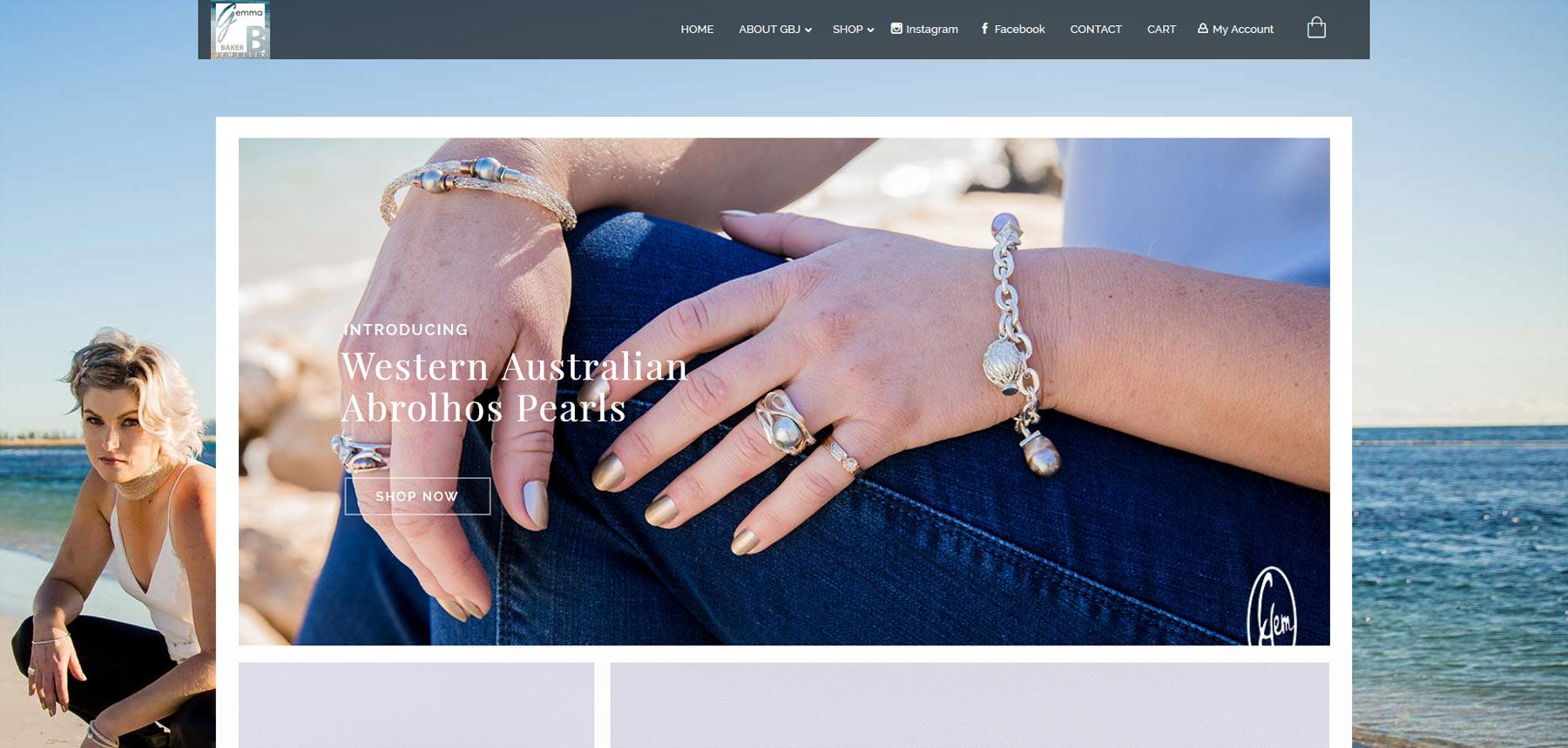 Gemma Baker Jeweller website front page