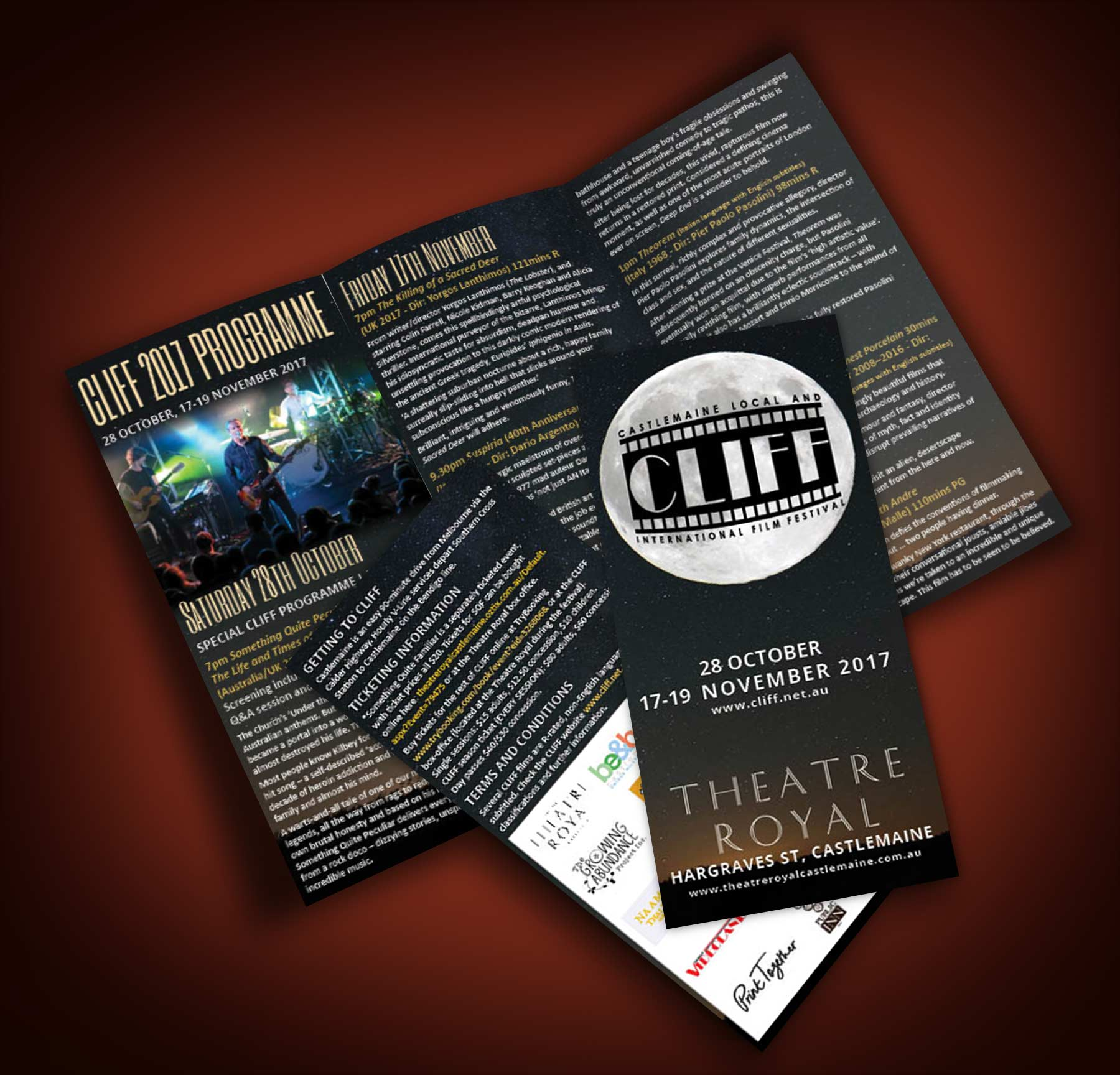 CLIFF brochure graphic design