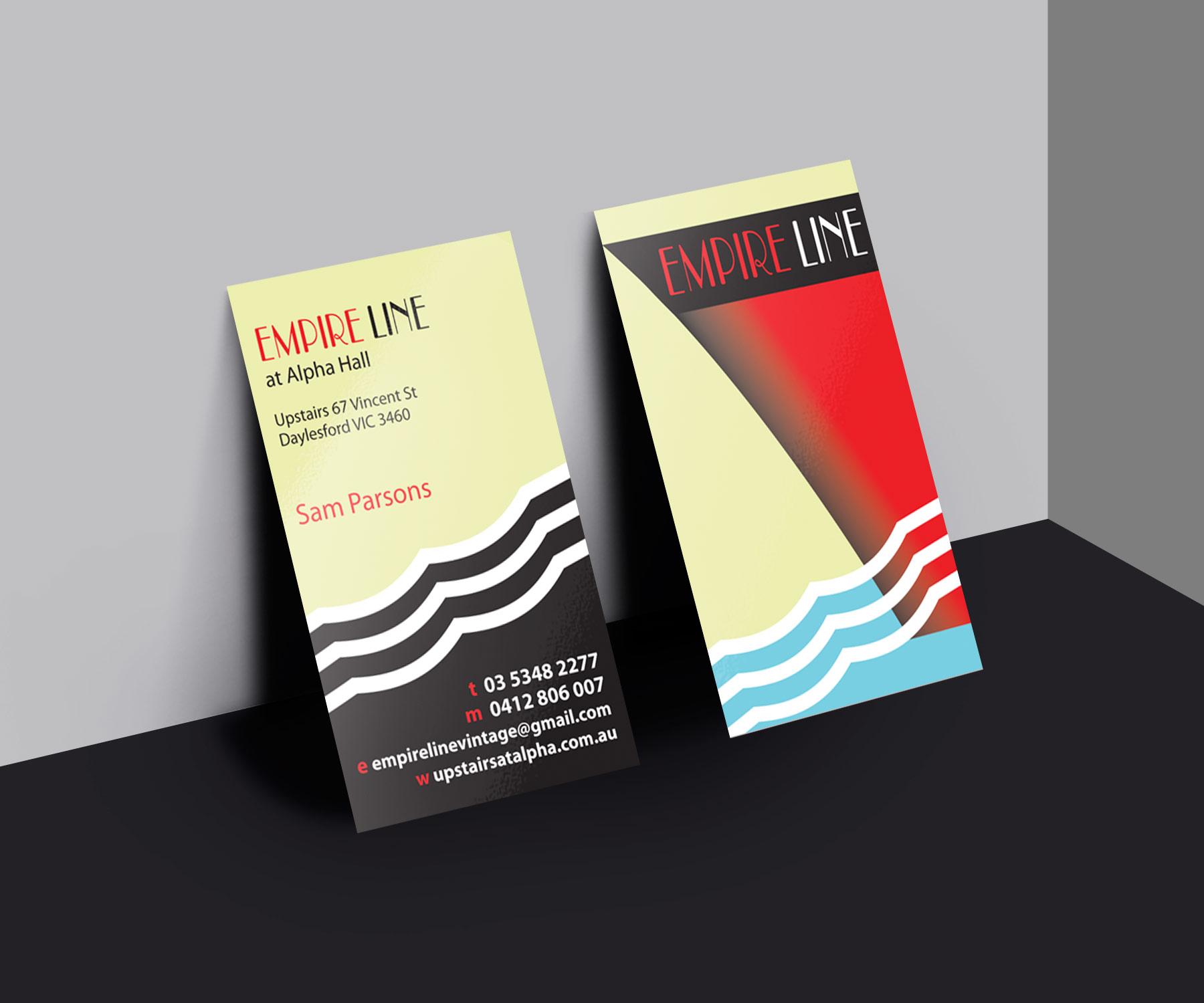 empire line business cards