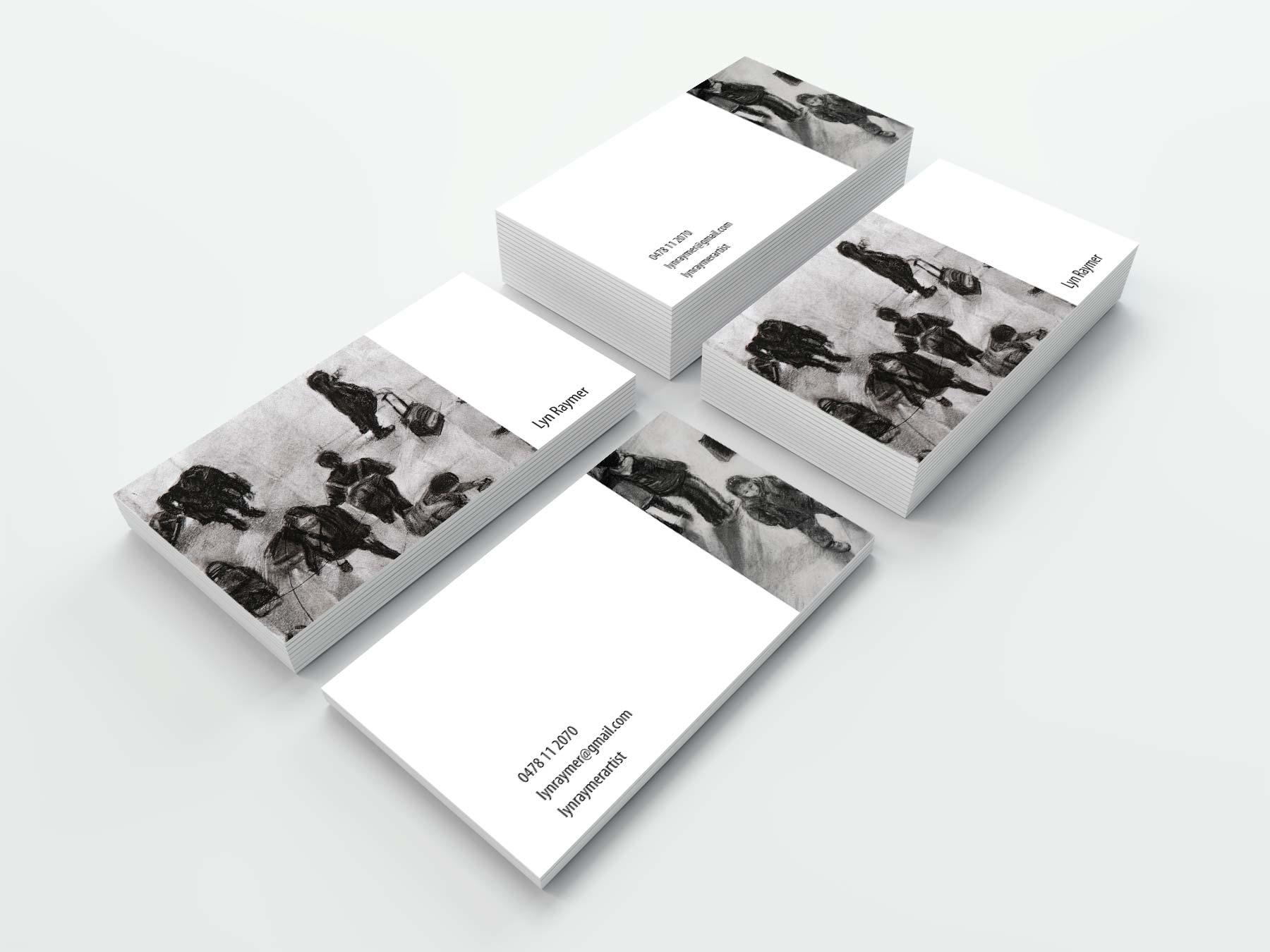 Lyn Raymer artist business card