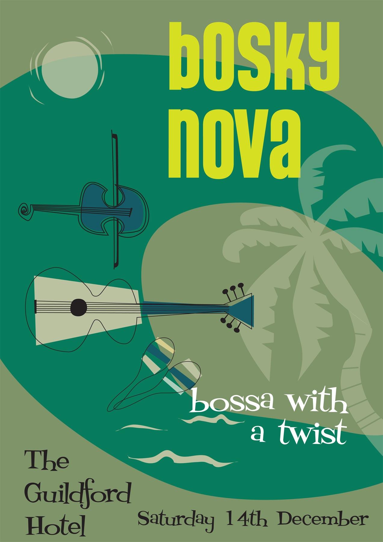 bosky nova poster graphic design