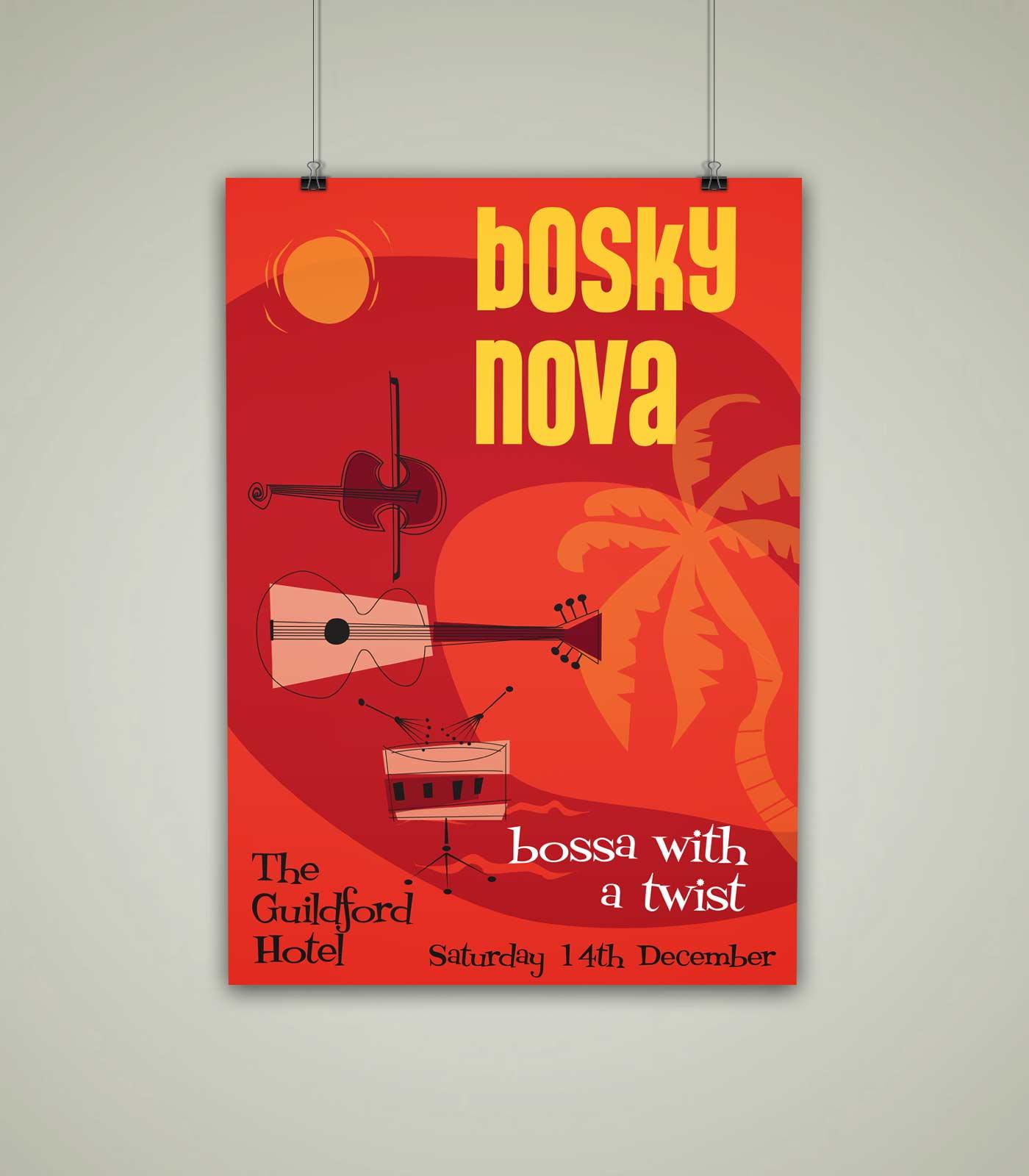 bosky nova band gig poster