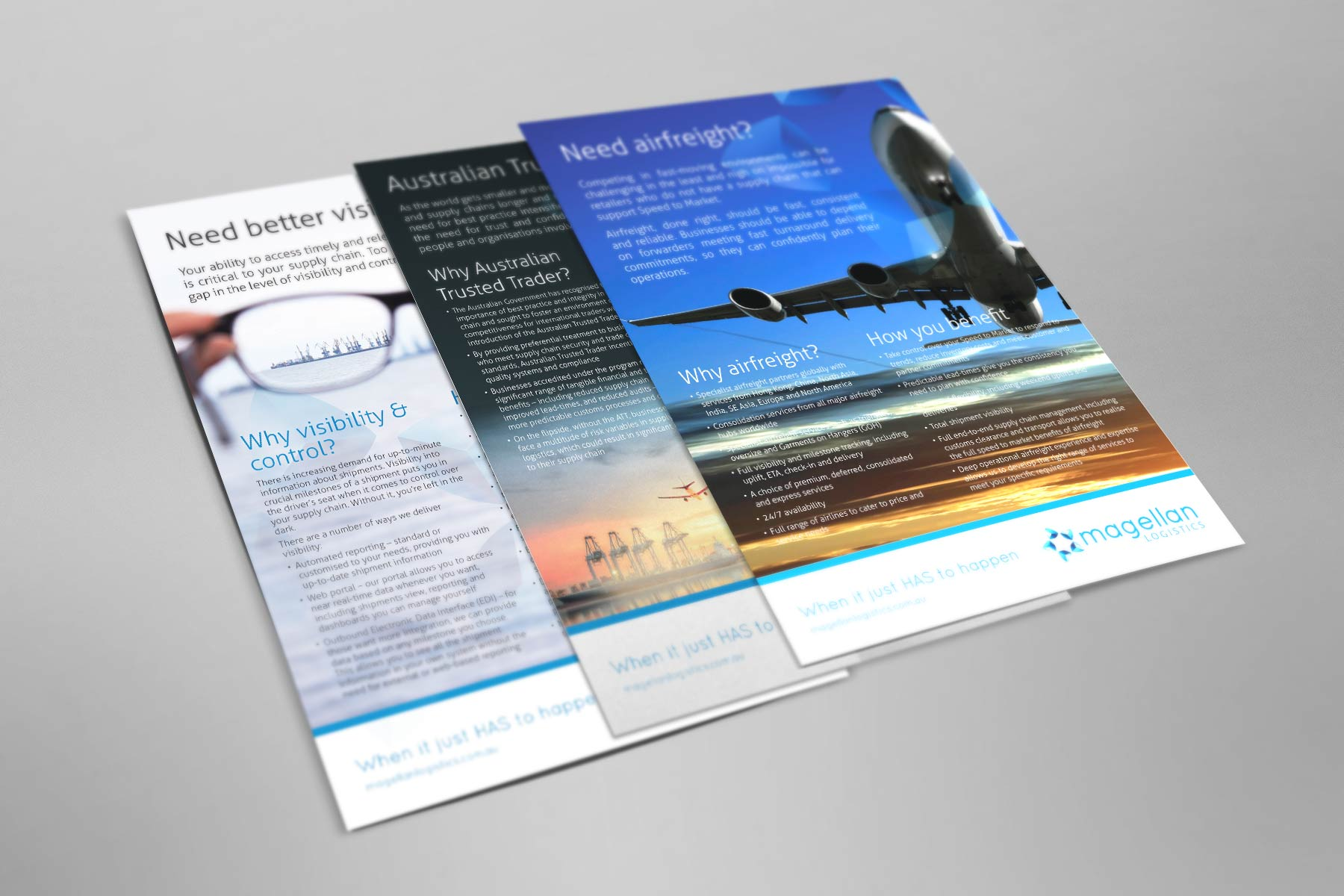 Magellan flyers graphic design