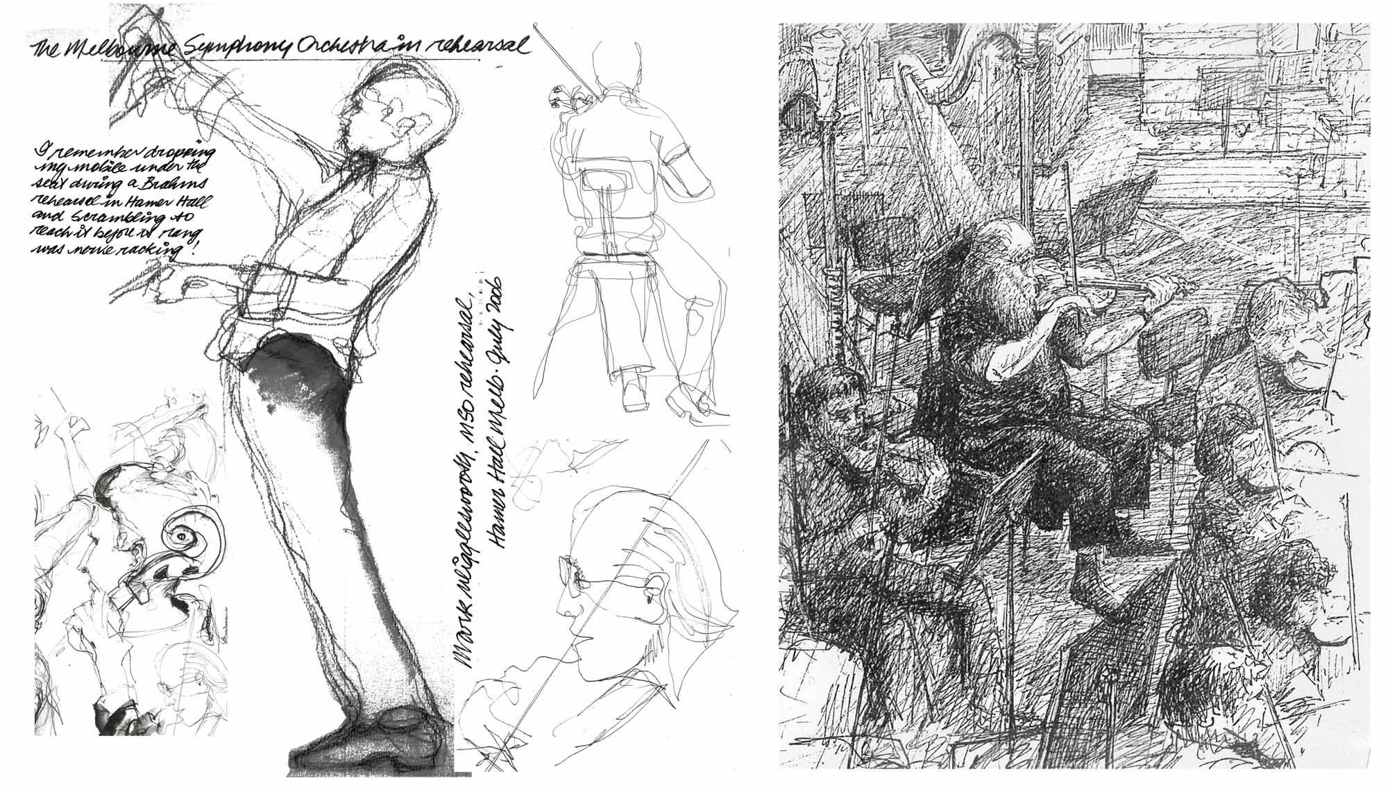 2 men drawing drawings websites